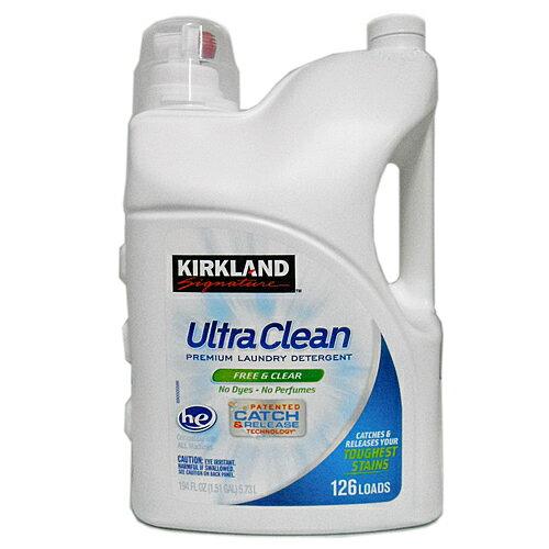 特売! KIRKLAND ウルトラ 液体洗濯洗剤 フリーアンドクリア 5.73L 1個 2097円【 白 カークランドシグネチャー コストコ Costco 通販 大容量 業務用 】