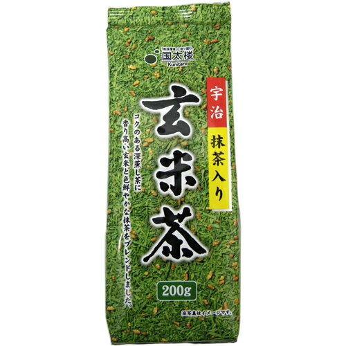 国太楼 宇治抹茶入り 玄米茶 200g 320円