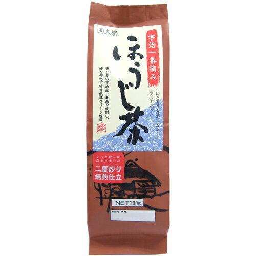 国太楼 宇治一番摘み ほうじ茶 100g 266円
