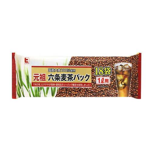 常陸屋 元祖六条麦茶パック 1L用 7g×18P 1袋 119円【 むぎ茶 ティーパック 水出し・煮出し両用 】