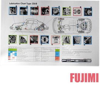 海报PORSCHE 356 B Lubrication Chart 3612日元