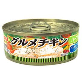 いなば グルメチキン缶 ハーブ入り 120g 1缶 112円 【 Twitter,ブログ,缶詰,inaba,鶏肉,ちきん 】