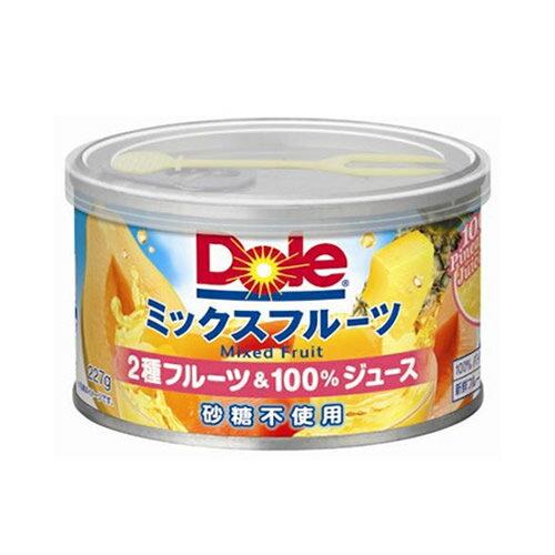 特売!ドール ミックスフルーツ 2種のフルーツ&100%ジュース フラット缶 108円【 Dole 缶詰 フルーツ パパイヤ パインアップル 砂糖不使用 】