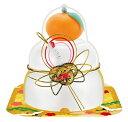 【予約販売】サトウの福餅入り鏡餅小飾り 鶴橙付き 66g 1個 265円【 つる だいだい お正月 もち ミニサイズ 】
