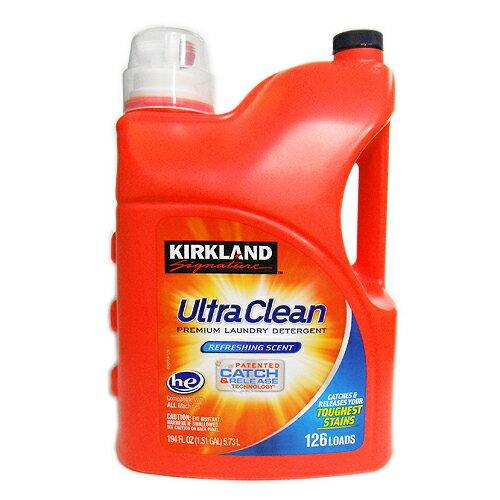 KIRKLAND ウルトラ 液体洗濯洗剤 5.73L 1個 2590円【 赤ボトル Ultra Clean カークランドシグネチャー コストコ Costco 通販 大容量 業務用 】