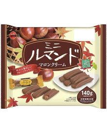 期間限定 ブルボン ミニルマンドマロンクリーム 140g 1袋 260円【 ファミリーサイズ お菓子 】