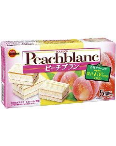【発売日1月28日】ブルボン ピーチブラン 218円×5箱 1090円【期間限定 桃 お菓子 ケーキ 】