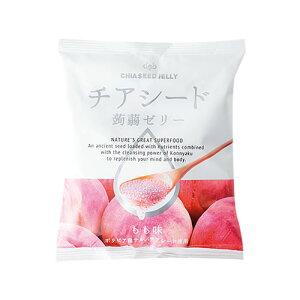 (バラ)チアシード 蒟蒻ゼリー もも味 10個入 1袋 275円【 デザート こんにゃくゼリー 桃 】