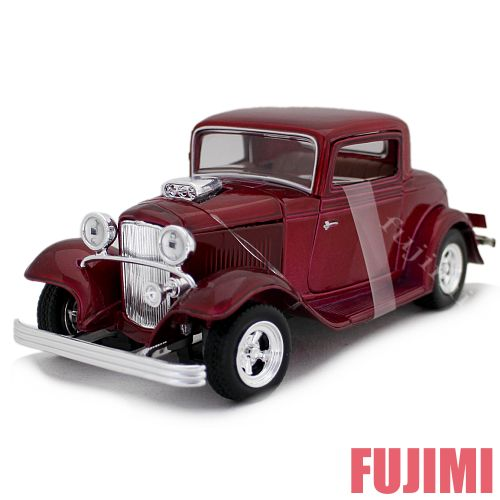 1932 FORD COUPE red 1/24 MOTORMAX 3612円【フォード クーペ アメリカ車 ダイキャストカー 赤 ミニカー クラシック モーターマックス 】【コンビニ受取対応商品】