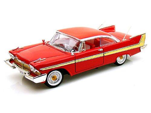 1958 PLYMOUTH FURY Red 1/18 MOTOR MAX 7315円【プリムス フューリー 赤 レッド アメ車 ミニカー モーターマックス クラシック ダイキャストカー 】【コンビニ受取対応商品】