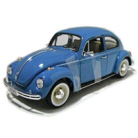 Volkswagen Beetle bl 1/24 WELLY NEX 3546円 【 VW,ミニカー,ウェリー ワーゲン,ビートル,カブトムシ,青,レトロ ダイキャストカー クラシック タイプ1 】【コンビニ受取対応商品】