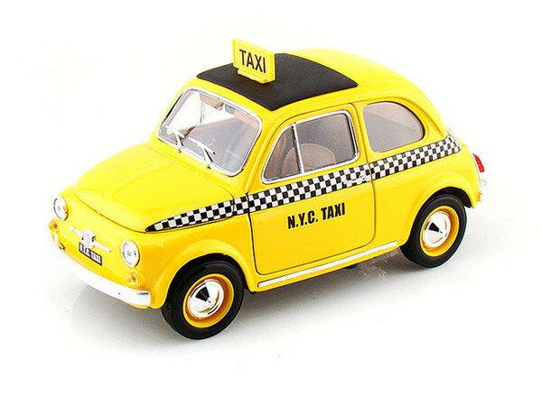 Fiat 500 Taxi 1/18 Bburago 7778円 【 フィアット NYC イエローキャブ タクシー ブラーゴ チンク ダイキャストカー ミニカー イタリア車 ニューヨーク 】【150814】【コンビニ受取対応商品】