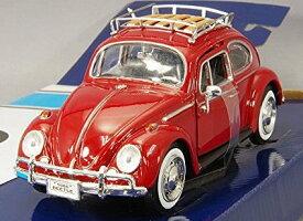 1966 Volkswagen Beetle red 1/24 Motor Max 4167円 【 VW ミニカー モーターマックス ワーゲン ビートル 赤 レッド レトロ ダイキャストカー クラシック タイプ1 】【コンビニ受取対応商品】