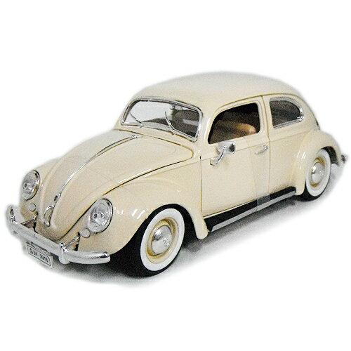 1955 Volkswagen Beetle cream 1/18 MAISTO 5556円 【 フォルクスワーゲン ビートル タイプ1 ミニカー マイスト ダイキャストカー クラシック ポルシェ 】【コンビニ受取対応商品】