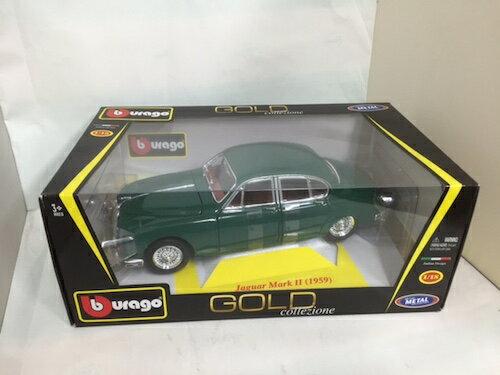 1959 Jaguar Mark2 gr Bburago GOLD collezione 1/18 7315円【 ジャガー マーク2 レッド イギリス車 ミニカー ブラーゴ ダイキャストカー グリーン 緑 】【コンビニ受取対応商品】