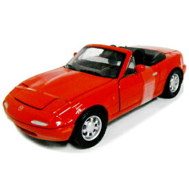 mazda MX-5 MIATA red 1/24 MOTOR MAX 3612円【 マツダ ロードスター 赤 レッド ミニカー MAZDA roadster NA ダイキャストカー DIECAST ミアータ 】【コンビニ受取対応商品】