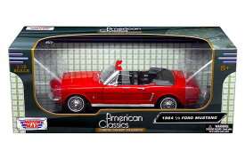 Ford Mustang Convertible 1964 1/2 Red 1:18 Motor Max 【 フォード マスタング コンバーチブル モーターマックス ミニカー アメ車 ポニーカー ダイキャストカー 1/18 】