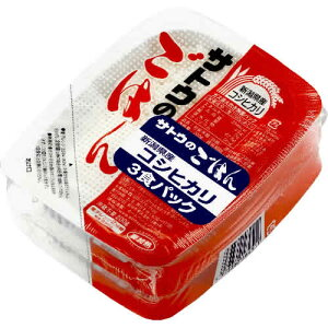 サトウのごはん 新潟県産コシヒカリ 200g×3食パック×12個 (合計36食) 1ケース 4776円