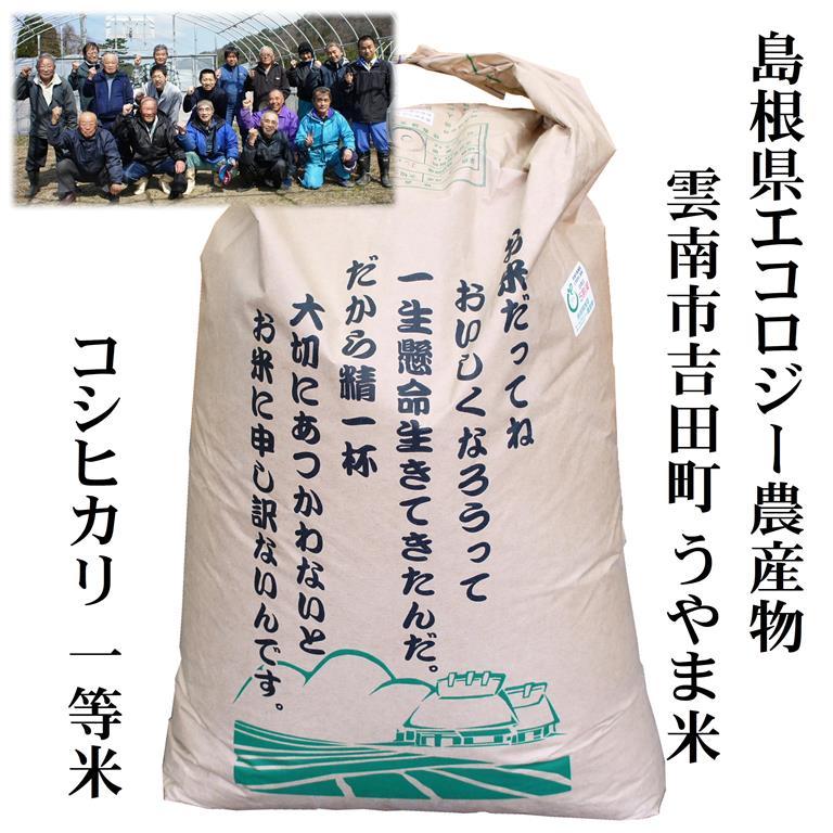 平成29年産 島根県吉田町産「うやま米」コシヒカリ30kg玄米原袋