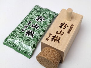 原了郭 粉山椒 四角(木筒)[さんしょう][調味料][京都][粉山椒][山椒の粉][スパイス]