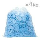 タオルウエス 青 約4kg おしぼりウエス ふち縫い クリーニング済み ブルー ウェス ダスター ワイパー パイル地【業務…