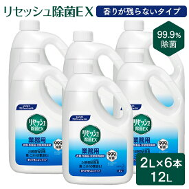 花王プロフェッショナル リセッシュ除菌EX 香りが残らないタイプ 2L×6本(ケース) 【業務用】【送料無料】