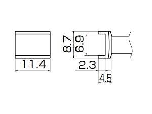 白光(HAKKO) はんだこてFM-2027/2028用こて先 トンネル 6.9×11.4 T12-1006