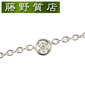 【送料無料】【美品】クリスチャン ディオール Christian Dior ミミウィ1Pダイヤネックレス K18 WG × ダイヤ JMIM95002 箱 保証書 8516