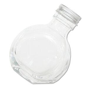 ハーバリウム ラウンドボトル 瓶 100ml ビン ボトルフラワー ハーバリウム瓶 容器 手作り 自作 作成 アルミ銀キャップ付