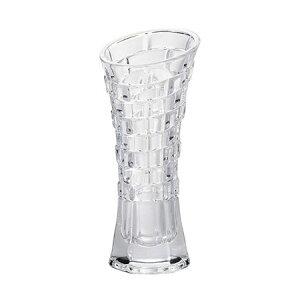 フジベース FB-1214 テクスチャーベース(S) 花びん ガラス製 容器 透明 花器 おしゃれ フラワーベース 花瓶 幅約8.5cm×高さ約19cm