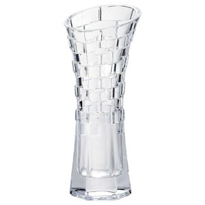 フジベース FB-1216 テクスチャーベース(L) 花びん ガラス製 容器 透明 花器 おしゃれ フラワーベース 花瓶 幅約11.5cm×高さ約29cm