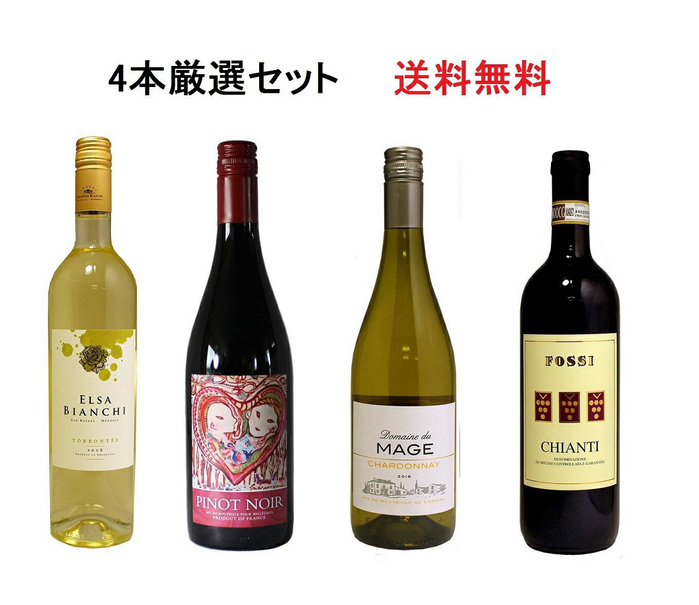 4本厳選ワインセット フランス イタリア アルゼンチン 送料無料