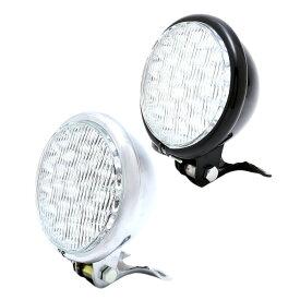 nakira バイク用 ヘッドライト LED30個 汎用 130Φ ベーツライト 5インチ 12V マグナ シャドウ ドラッグスター