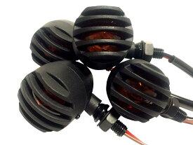 nakira ウインカー 4個セット ポジションランプ付き バレット 汎用 ビレット ブレット ウィンカー バードゲージ (ブラック 黒)