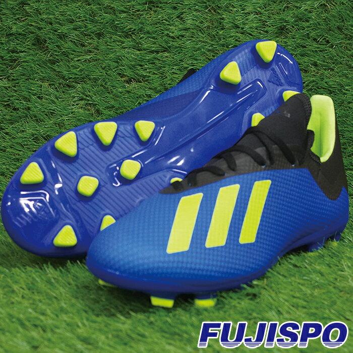 エックス 18.3 HG/AG アディダス(adidas) サッカースパイク フットボールブルー×ソーラーイエロー×コアブラック (BB6955)【2018年6月アディダス】