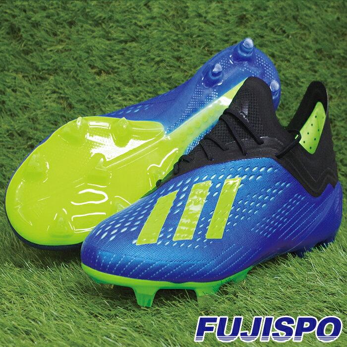 エックス 18.1 FG/AG アディダス(adidas) サッカースパイク フットボールブルー×ソーラーイエロー×コアブラック (CM8365)【2018年6月アディダス】