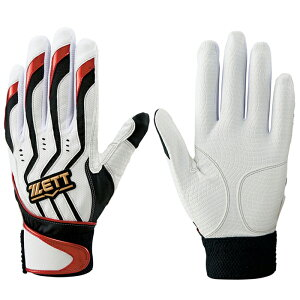 ゼット(ZETT)カラーバッティング手袋インパクトゼット両手【野球・ソフト】バッティンググローブ手袋(BG999)