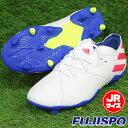 ネメシス メッシ 19.1 FG J アディダス(adidas) ジュニアサッカースパイク ランニングホワイト×ソーラーレッド×フッ…