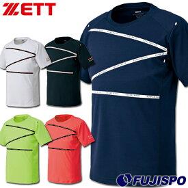 ZETT BEAMS DESIGN セミラグラン Tシャツ【野球・ソフト】トレーニングウェア シャツ トップス 半袖 丸首 (BOT399T1)