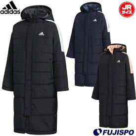 B MHコート (FYQ40)アディダス(adidas) ジュニア ベンチコート ロングコート ボアコート【2101coat】