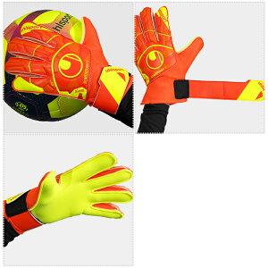 ダイナミックインパルススターターソフト(1011148-01)ジュニアキーパーグローブキーパー手袋ダイナミックオレンジ×フローイエローウールシュポルト(uhlsport)