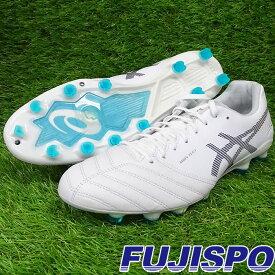 DSライト エックス フライ プロ / DS LIGHT X-FLY PRO アシックス(asics) サッカースパイク シューズ 大人 ホワイト×プリズムブルー (1101A025-100)