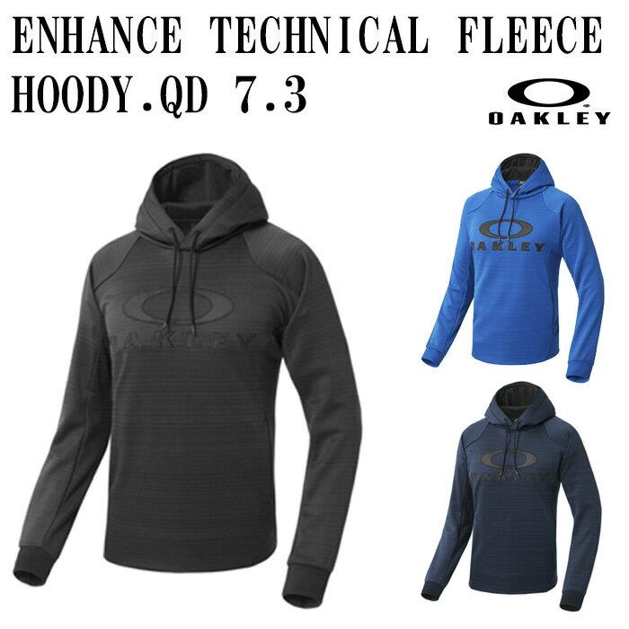 【オークリー/OAKLEY】ENHANCE TECHNICAL FLEECE HOODY.QD 7.3【野球・ソフト】パーカー フーディープルオーバー 長袖 吸汗速乾 リフレクター(461608JP)