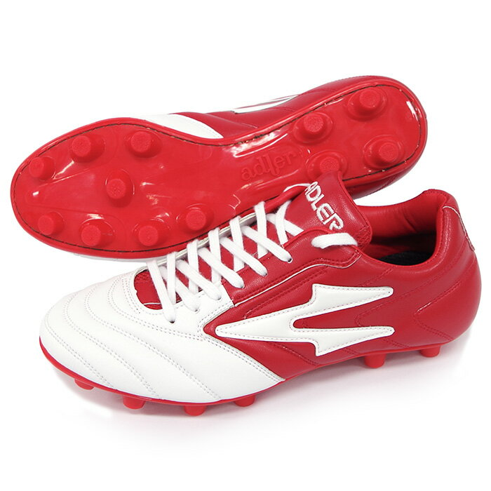 ビーゴ MS(AD126-WHT-RED)アドラー サッカースパイク ホワイト×レッド【アドラー/adler】