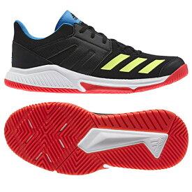 【あす楽対応】 アディダス adidas ハンドボールシューズ インドア エッセンス Essence AQN52 BD7406 コアブラック/ハイレゾイエローS19/アクティブレッドS19カラー キャッシュレス・消費者還元事業 5%