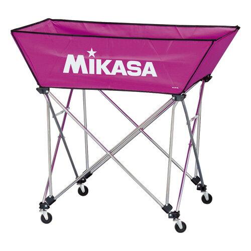 MIKASA ミカサ ボールカゴ 3点セット 舟形 中 バイオレット BC-SP-WM-V 【取り寄せ品】