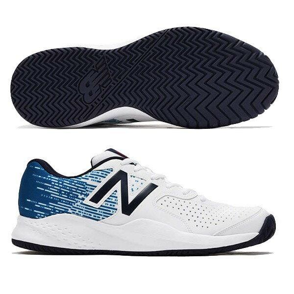 【あす楽対応】 newbalance ニューバランス テニスシューズ メンズ MC696WL3 2E WHITE/NAVYカラー オールコート用