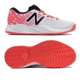 【あす楽対応】ニューバランス newbalance テニスシューズ オールコート レディース WCH696C3 2E WHITE/BLACKカラー