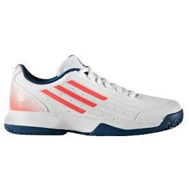 【あす楽対応】 アディダス adidas テニスシューズ ジュニア オールコート Sonic Attack K BB4123 ランニングホワイト/テックスティールF16/フラッシュレッドS15 キャッシュレス・消費者還元事業 5%