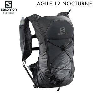 サロモン SALOMON アウトドア トレイルランニング ハイキング バッグ バッグパック リュック アジャイル12ノクターンセット BLACK LC1420600 【クロスカントリースキー店舗】